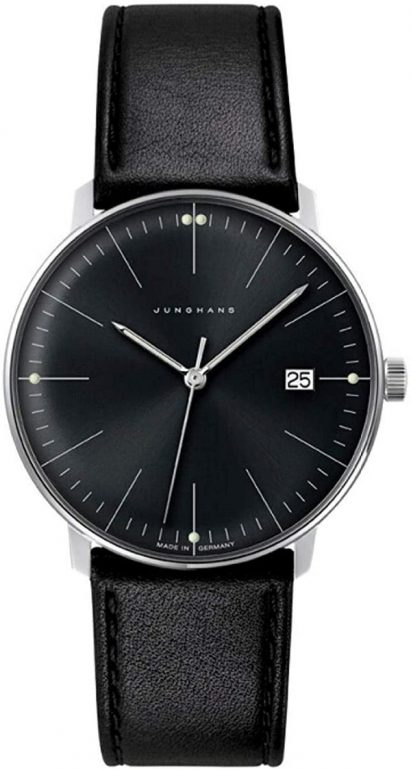 junghans-mens-max-bill-stainless-steel-quartz-watch-with-leather-calfskin-strap