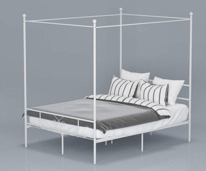 zinus-patricia-white-metal-framed-canopy-four-poster-platform-bed-frame