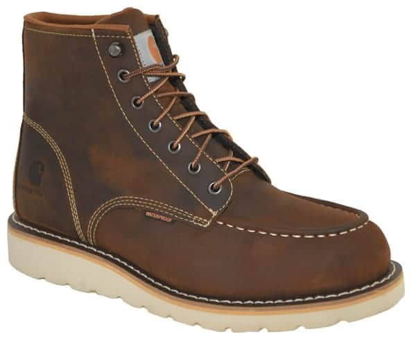 Carhartt Men's 6 inch Waterproof Toe Moc Wedge Casual Work Boot