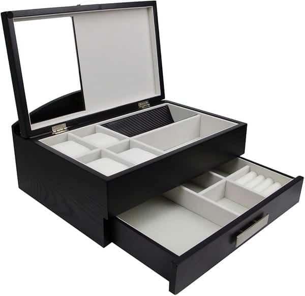 Decorebay Sawyer Valet Station, Watch Case and Jewelry Box Organizer