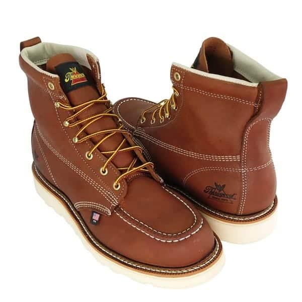 Thorogood Men's American Heritage 6 inch Moc Toe, MAXwear Wedge Safety Boot