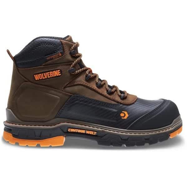 WOLVERINE Men's Overpass 6 inch Composite Toe Waterproof Work Boot